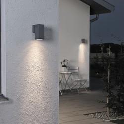 Buiten wandlamp Monza 13.5 cm Antraciet