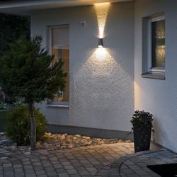 Buiten wandlamp Imola 17 cm Antraciet