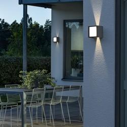 Buiten wandlamp Cremona 14.5 cm Antraciet