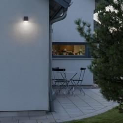 Buiten wandlamp Monza 9.5 cm Antraciet