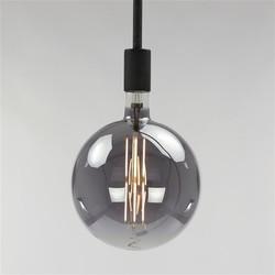 Lichtbron bol Ø20 cm LED filament 8W titanium glas