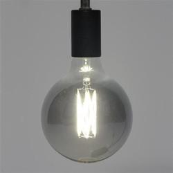 Lichtbron bol Ø12,5 cm LED filament Titanium - E27 6W 2700K 180 lm dimbaar / titanium glas