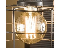 Lichtbron LED E27 6W Ø9,5 cm bol filament goldline