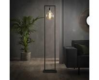 Industriële - Vloerlamp - Oud zilver - Minimalistisch - Bruce