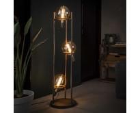 Industriële - Vloerlamp - Oud zilver - 3 lichts - Saturnus