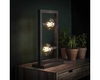 Industriële - Tafellamp - Oud zilver - 2 lichts - Skye