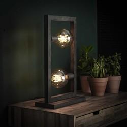 Tafellamp Skye 2-lichts Oud zilver