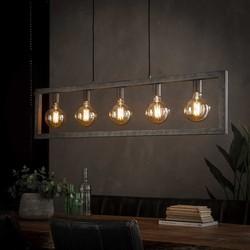 Hanglamp Skye 5-lichts oud zilver