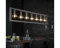 Industriële - Hanglamp - Oud zilver - 7 lichts - Skye