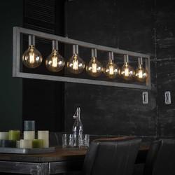 Hanglamp Skye 7-lichts oud zilver