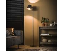 Vintage vloerlamp Ronja|charcoal|met verstelbare lampenkap
