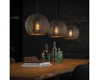 Industriële - Hanglamp - Zwart / bruin - 3 lichts bolvormig - Zelda