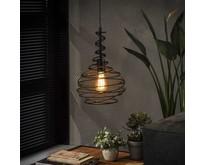 Industriële - Hanglamp - Zwart - 1 lichts - Hunter
