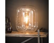 Tafellamp Dakota glazen kap / Transparant glas