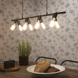 Hanglamp Miami 8-lichts Zwart