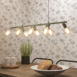 Hanglamp Miami 8-lichts Grijsgroen