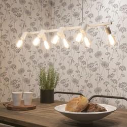 Hanglamp Miami 8-lichts Wit