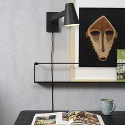 Wandlamp Biarritz zwart