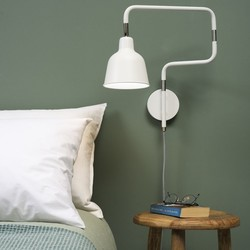 Uittrekbare Wandlamp London Wit