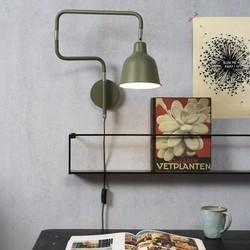 Moderne wandlamp London olijfgroen