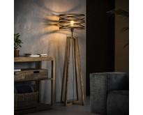 Landelijk industriële vloerlamp Morgan Ø40 cm   Slate grey