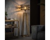 Landelijke - Vloerlamp - Bruin - 40 cm - Morgan