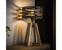 Landelijk industriële Tafellamp Morgan Ø30 cm | Slate grey