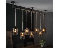 Landelijke - Hanglamp - Bruin - 7 lichts - Lawu