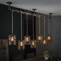 Hanglamp Lawu 7-lichts Bruin