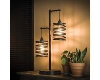 Industriële - Tafellamp - Bruin - 2 lichts - Lawu