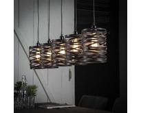 Modern industriële hanglamp Lawu 5-lichts | Ø17 cm | grijs/bruin
