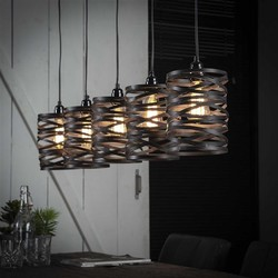 Hanglamp Lawu 5-lichts Ø17 cm  grijs/bruin