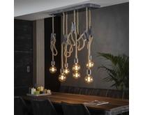 Landelijke - Hanglamp - Oud zilver - 7 lichts - Caddo
