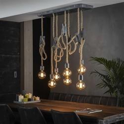 Hanglamp Caddo 7-lichts / oud zilver
