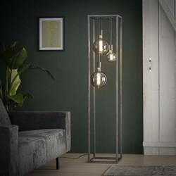 Vloerlamp Cubic 3-lichts pilaar oud zilver