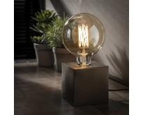 Moderne - Tafellamp - Zwart nikkel - 10 x 10 cm - Kubus