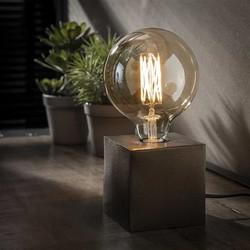 Tafellamp Kubus zwart nikkel