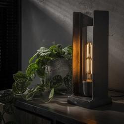 Tafellamp Diaz zwart nikkel