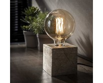 Moderne industriële tafellamp Kubus   Antiek nikkel