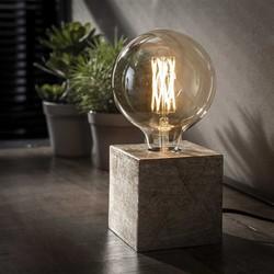 Tafellamp Kubus antiek nikkel