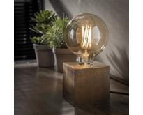 Moderne - Tafellamp - Brons antiek - 10 x 10 cm - Kubus