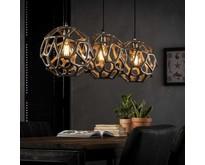 Industriële - Hanglamp - Antiek nikkel - 3 lichts - Ivar