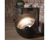 Industriële - Vloerlamp - Zwart nikkel - 50 cm - Zenzi