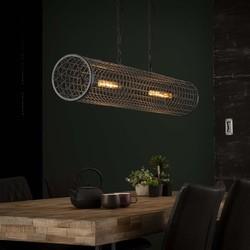 Hanglamp Sydo 2-lichts cilinder slate grey