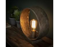 Landelijke - Tafellamp - Antiek nikkel - Rond - Zeno