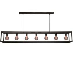 Hanglamp Esteso 7-lichts Zwart