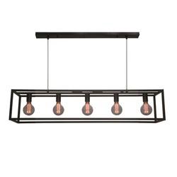 Hanglamp Esteso 5-lichts Zwart