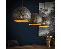 Industriële - Hanglamp - Zwart / bruin - 3 lichts 25 cm - Cambal