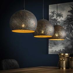 Hanglamp Cambal 3-lichts Ø25 cm Zwart / bruin