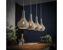 Industriële - Hanglamp - Betonlook - 4 lichts - Chingo
